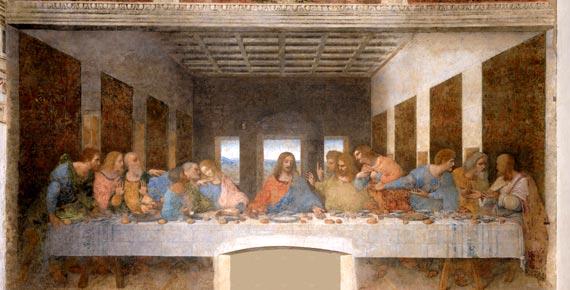 last supper of Leonardo da Vinci in Milan City Italy