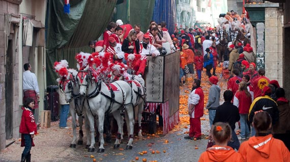 Visit Ivrea and the Battle of the Oranges