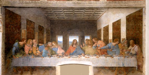 last supper of Leonardo da Vinci in Milan City Italy